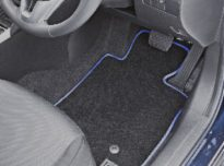 custom floor car mats piped